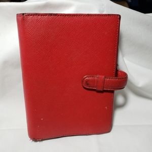B8,351 Filofax Red Leather Pocket Size